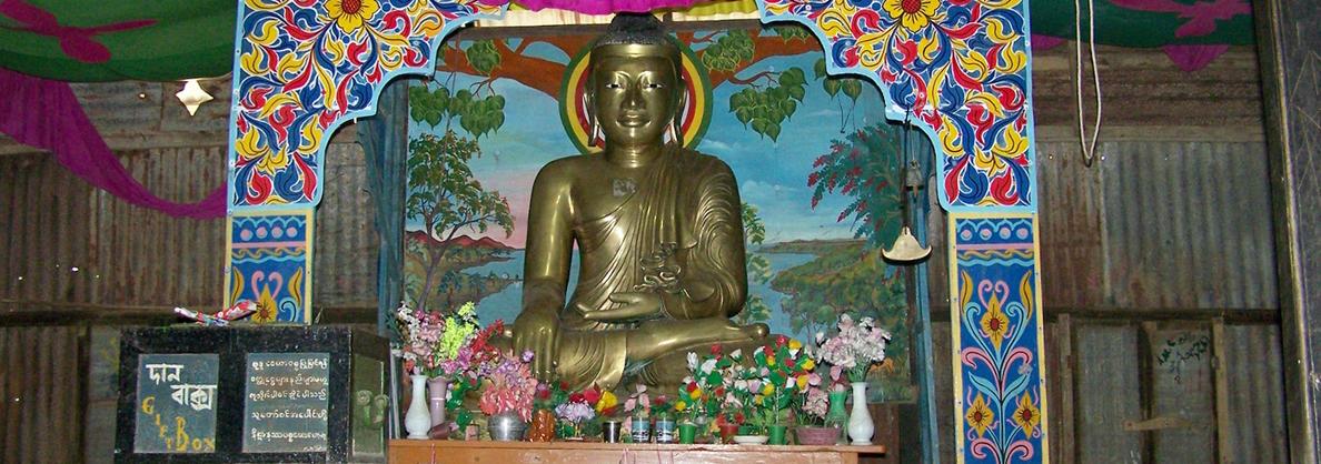 Статуя Будды, Бангладеш, храм