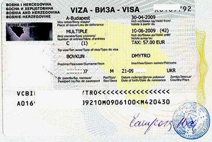 Виза в Боснию и Герцеговину