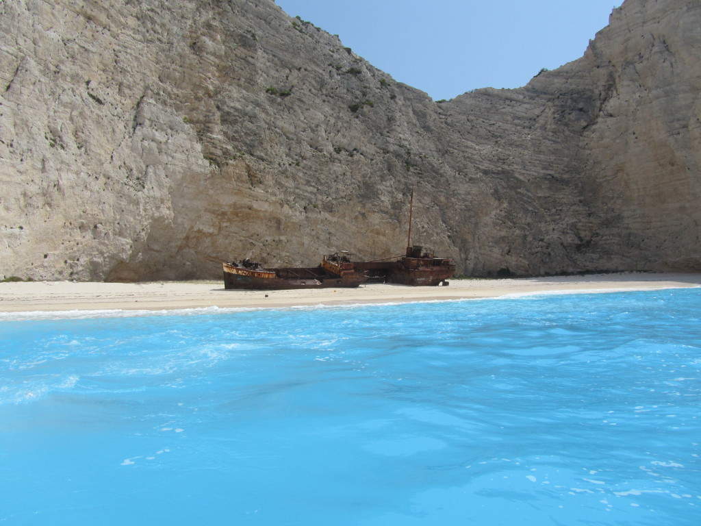 Navagio Beach and Shipwreck of the Panagiotis at 'Smugglers Cove' Zakynthos