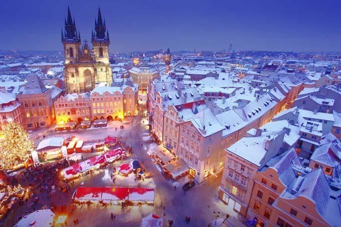 Прага зимой