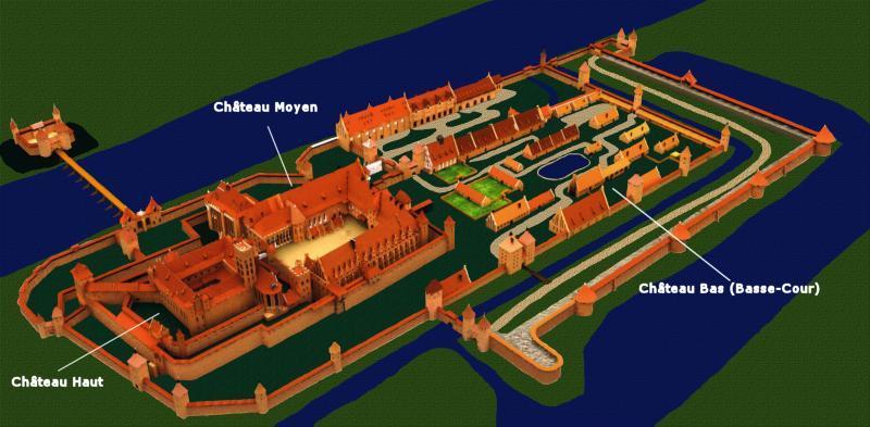 Схема замка Мариенбург, Польша