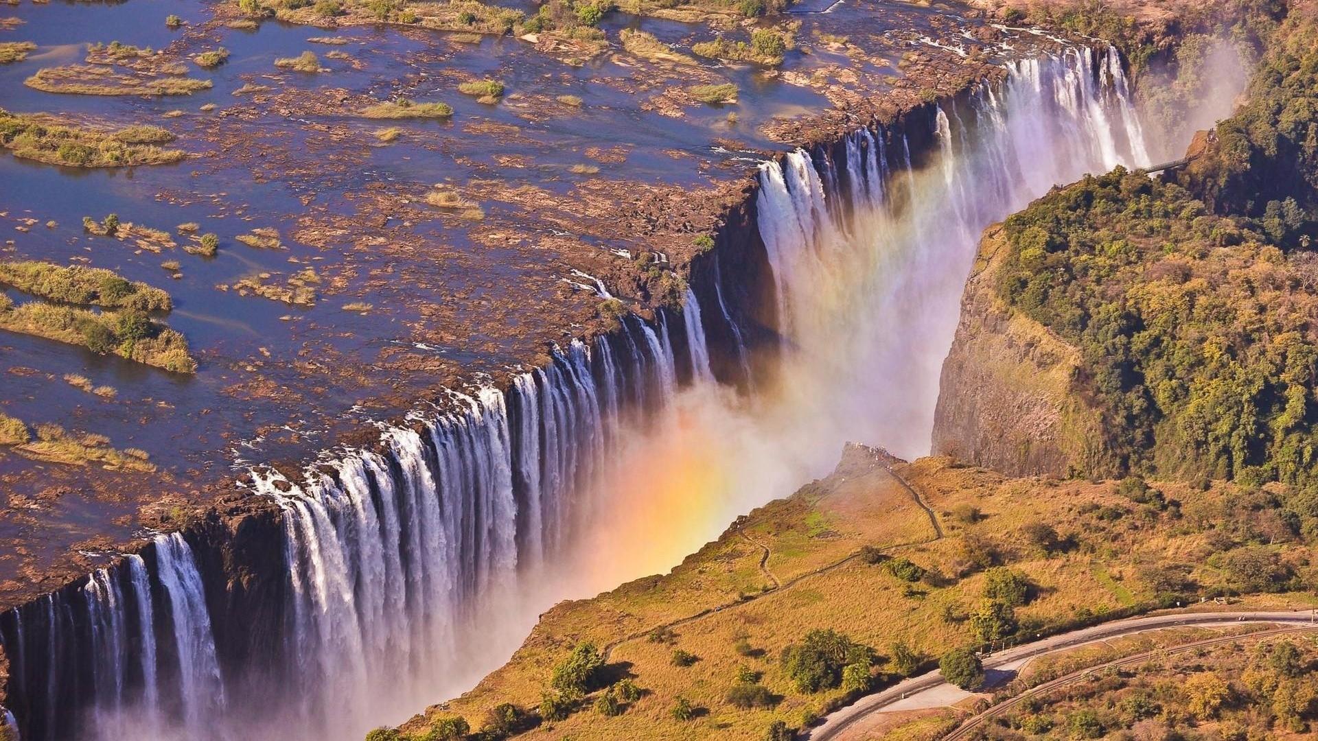 Зимбабве, водопад