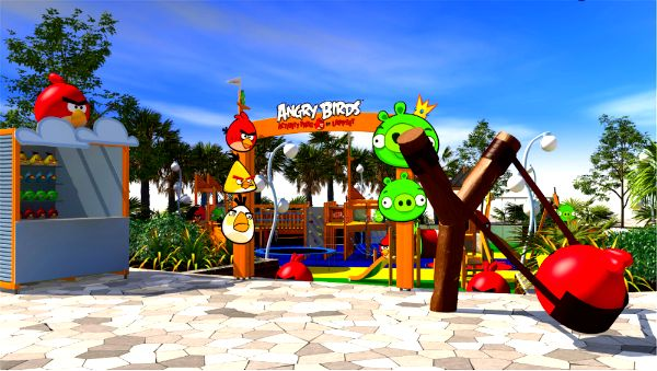 Новый парк развлечений Angry Birds