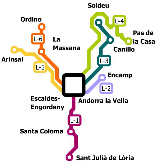 Схема автобусных маршрутов в