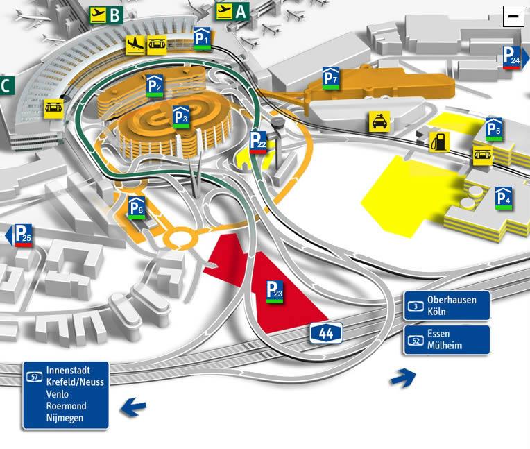 Схема аэропорта Дюссельдорфа