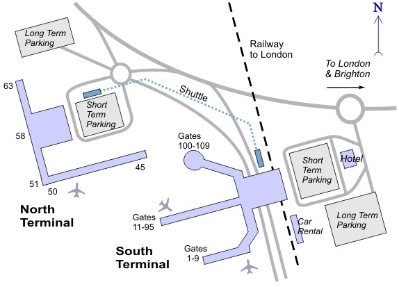 Схема аэропорта Хитроу full