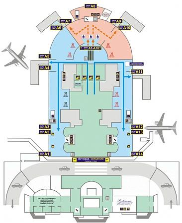 Схема международного аэропорта