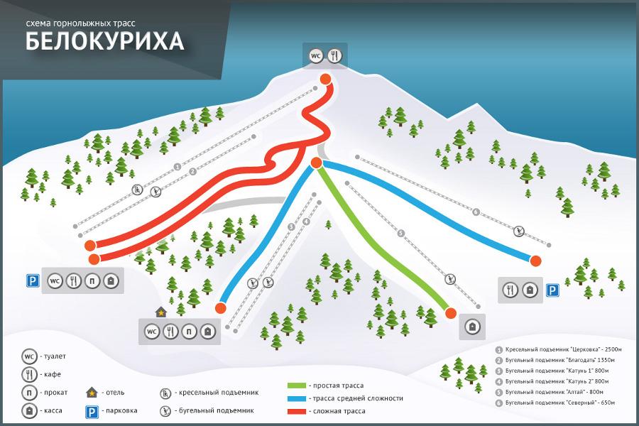 Схема трасс курорта Белокуриха