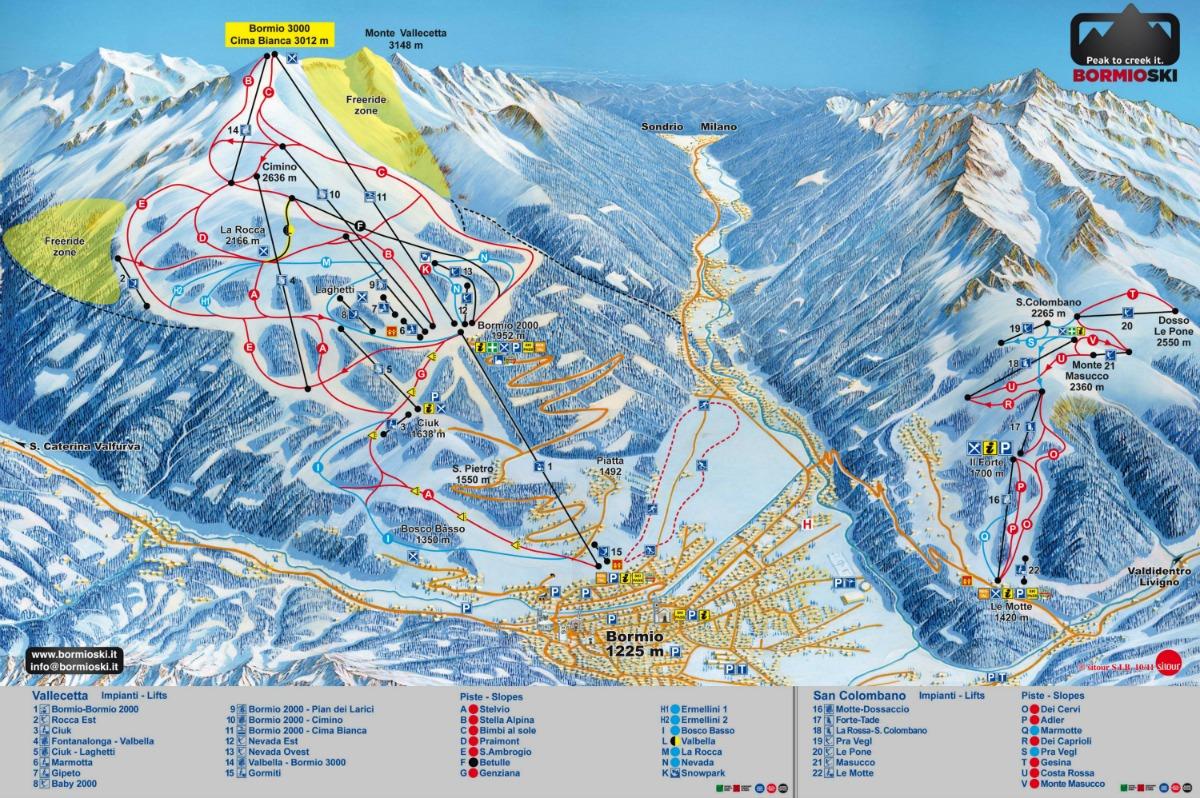 Карта трасс Бормио