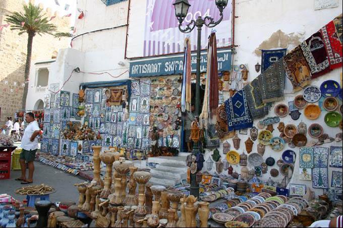 Махдия, уличный рынок